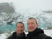 am Glaciar Huemul