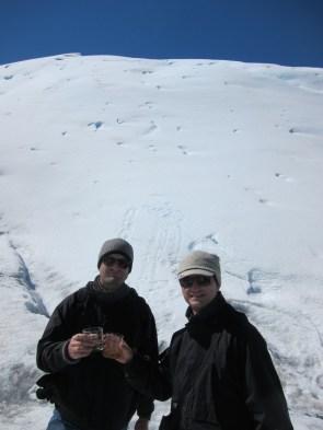 Ein Whisky auf Gletscher-Eis