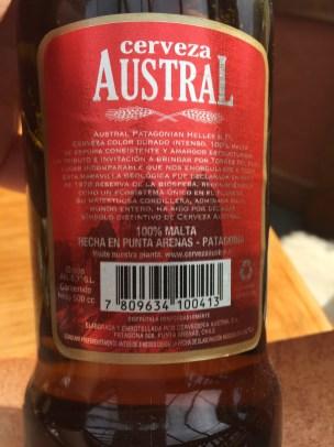 Bier 100% Malta - und das im tiefen Süden von Chile