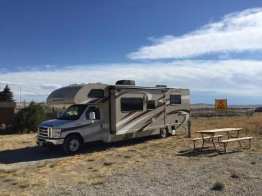 Der idyllische Campingplatz am I-80