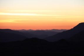 Sonnenuntergang am Windy Ridge