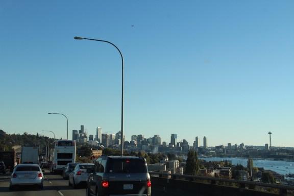 Seattle vom verstopften I-5