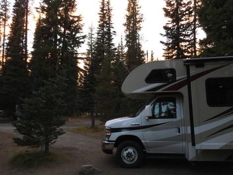 Sonnenuntergang auf dem Campground