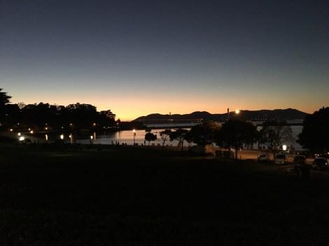 Sonnenuntergang am Fisherman's Wharf