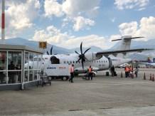Unser heutiger Flieger, eine ATR 42-500, etwas größer als der nach Nuquí