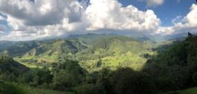 Blick vom Mirador de Salento