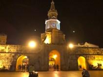Cartagena bei Nacht - Torre del Reloj