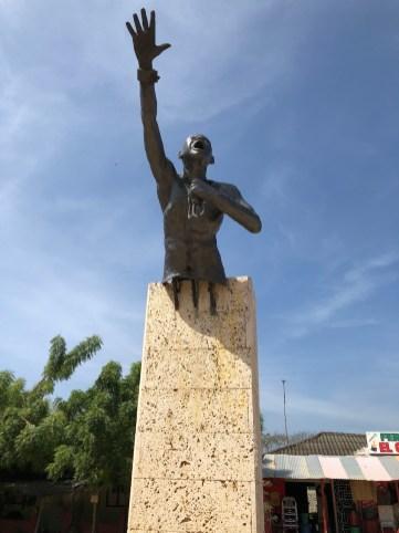 Statue von Benkos Biohó, Gründer von San Basilio de Palenque