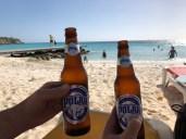 Das Bier zum Strand, oder so.