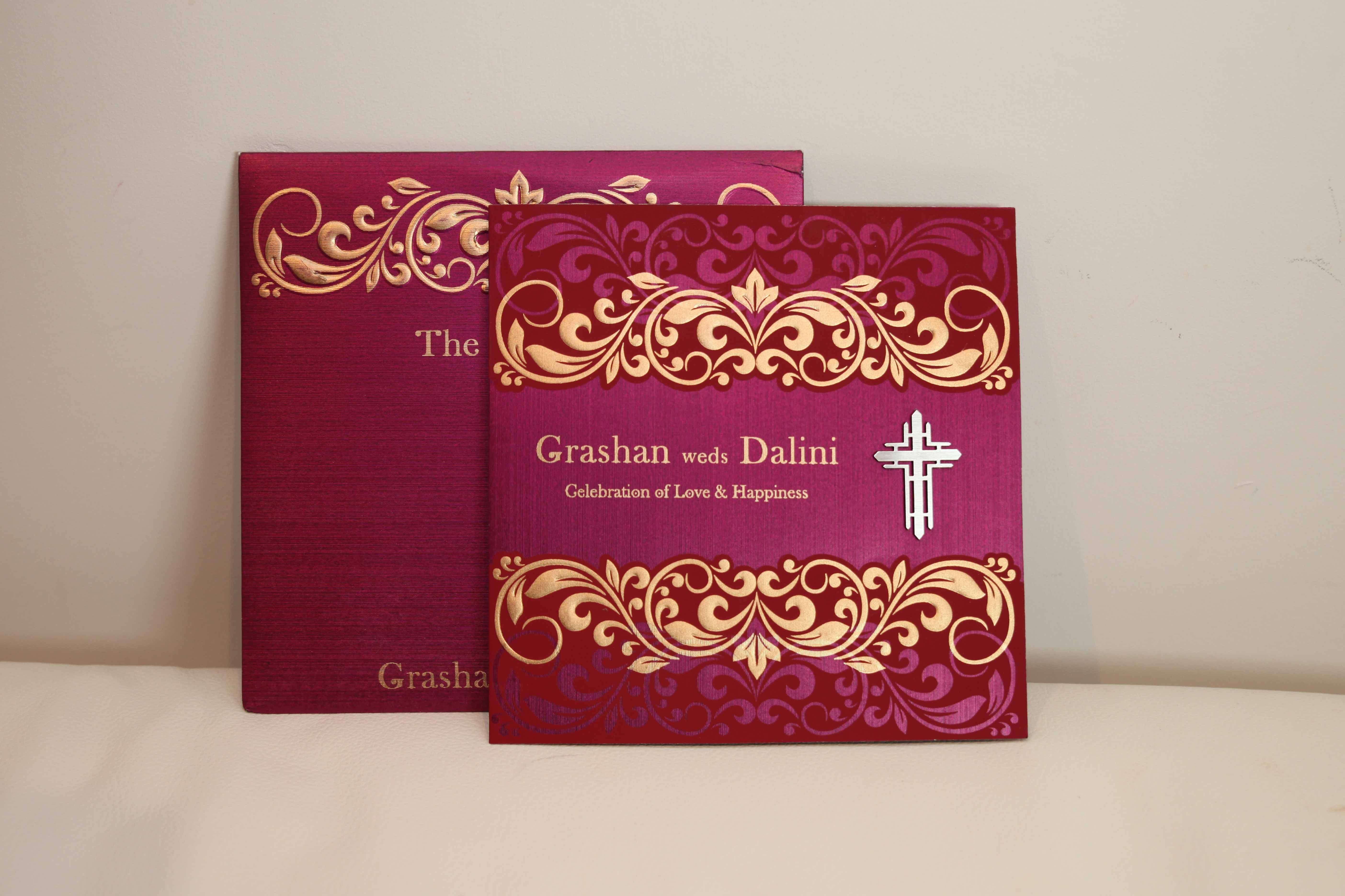 christian wedding cards red
