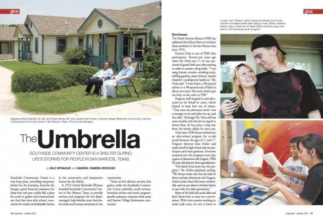 The Umbrella, Southside Community Center, San Marcos, Texas