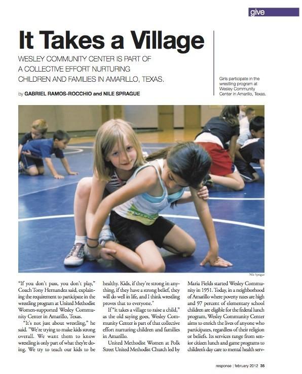 It Takes A Village, response magazine February 2012