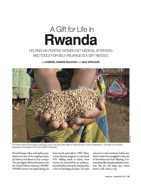 Response December 2012 A Gift for Life in Rwanda