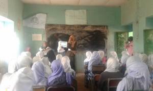 Aquatic Survival Programme being taught in a girls school in Khartoum, Sudan.