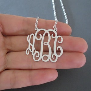 Custom Monogram Letter Necklace