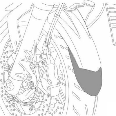 Quilla moto HONDA CB600F HORNET 07-15 Puig con kit de