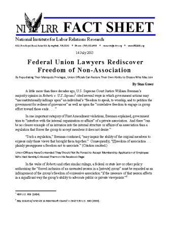 20150714-NILRR_Fact_Sheet_Federal_Union_Bosses_Rediscover_Freedom_of_Non-Association_Page_1