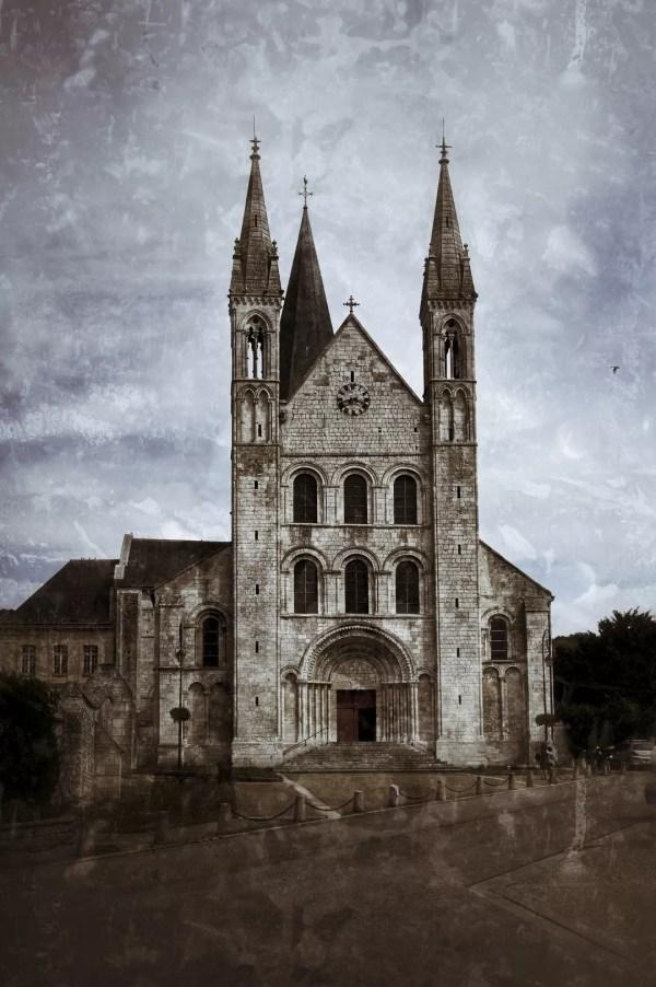 Façade de l'Abbaye St-Georges de Boscherville