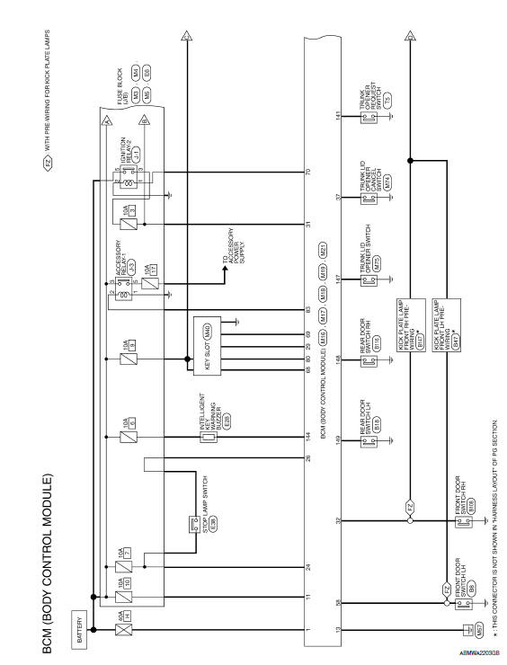 wiring diagram for 2008 nissan maxima  description wiring