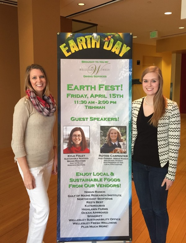 Ruthie with her mother Carolyn at Wellesley for Earth Fest.