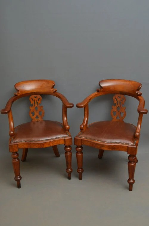 Victorian Leather Office Chair