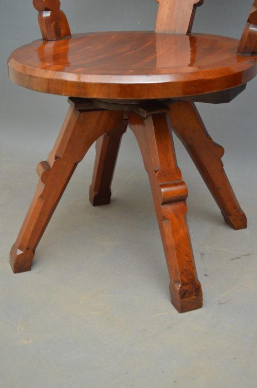 Victorian Mahogany Office Chair  Nimbus Antiques