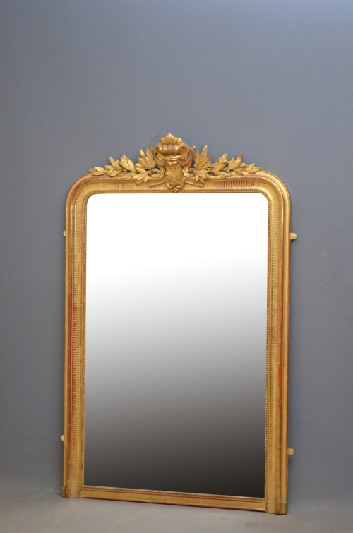 Large XIXth Century French Giltwood Mirror