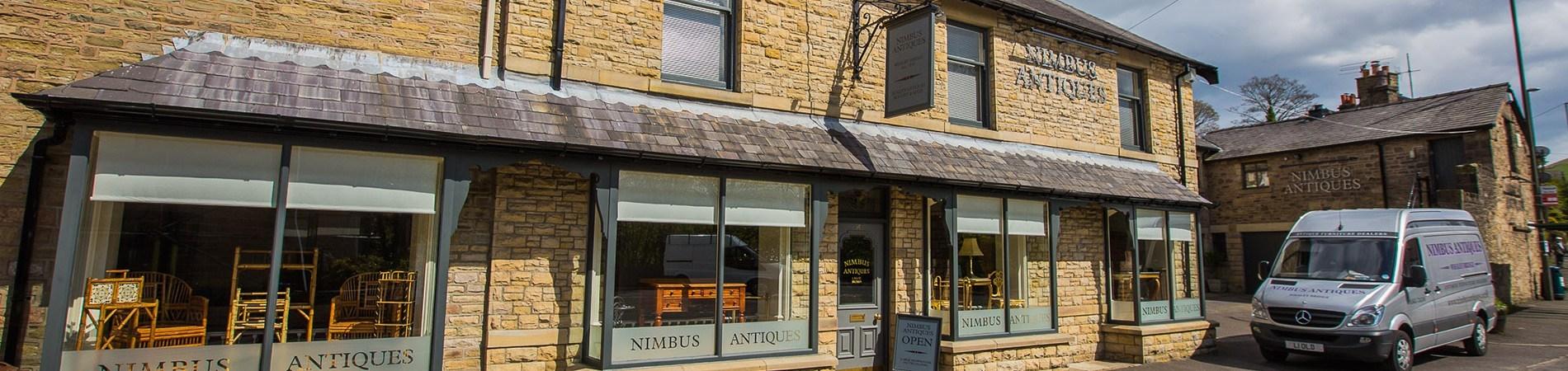 Antiques shop front