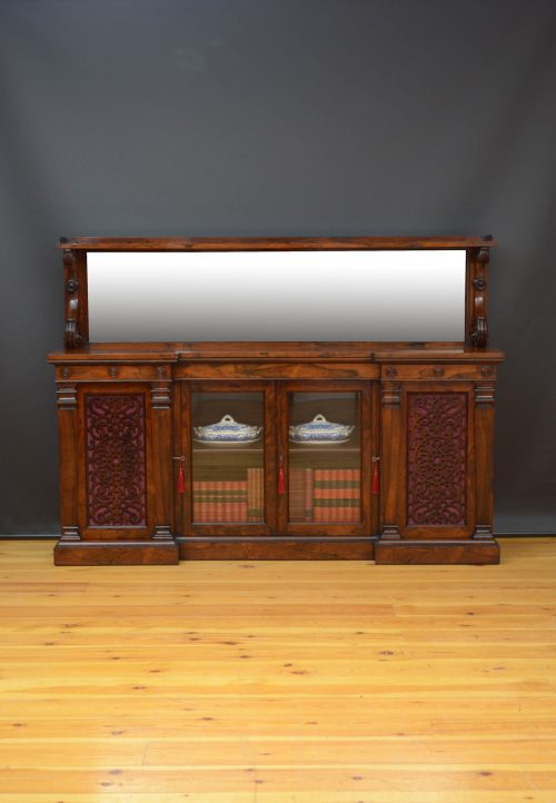 Large Early Victorian Sideboard or Bookcase