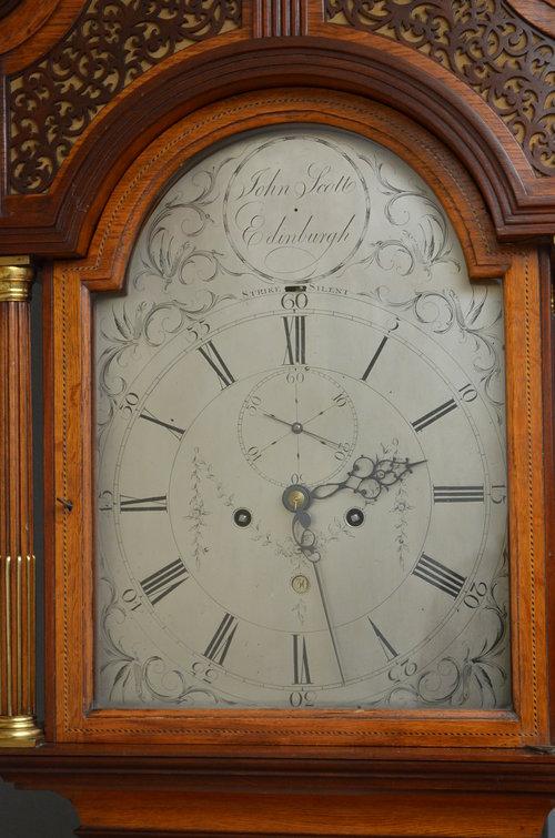 Georgian Longcase Clock by John Scott, Edinburgh
