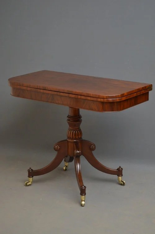 Regency Tea Table - Mahogany Table