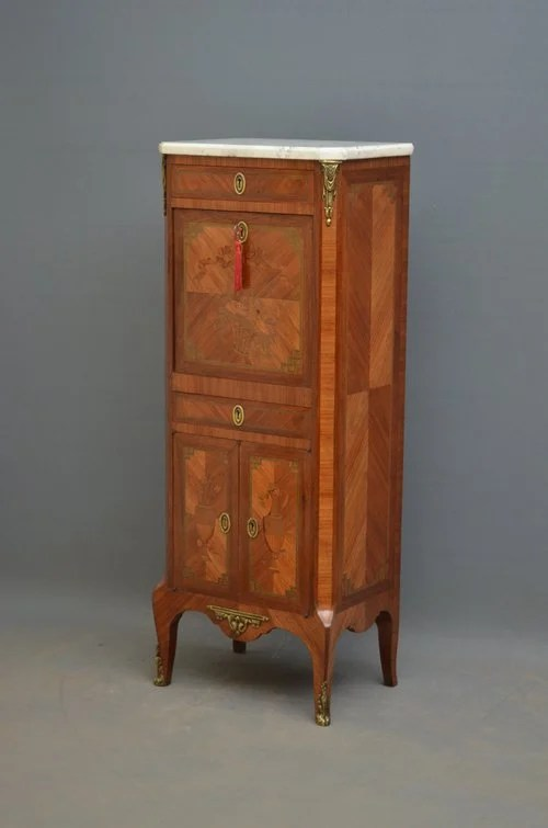 Unusual Continental Inlaid Cabinet