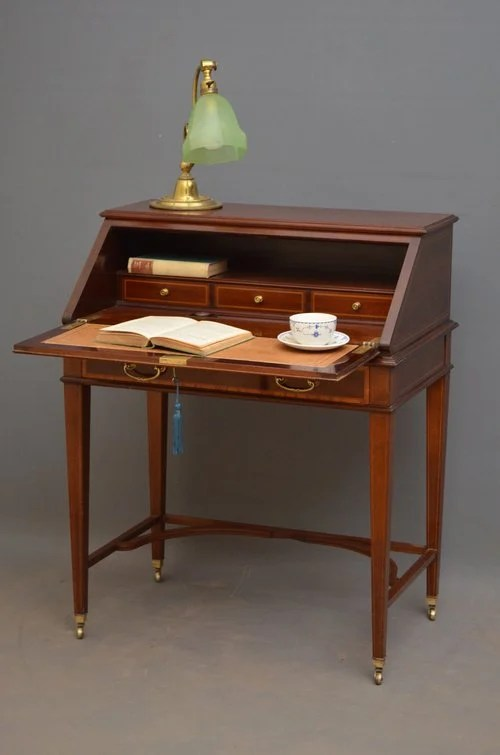 Elegant Mahogany Bureau by Maple & Co