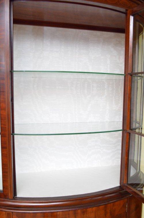 A Grand Edwardian Mahogany Display Cabinet