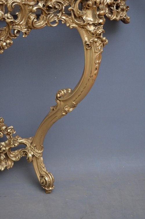 Very Decorative XX Console Table with Mirror