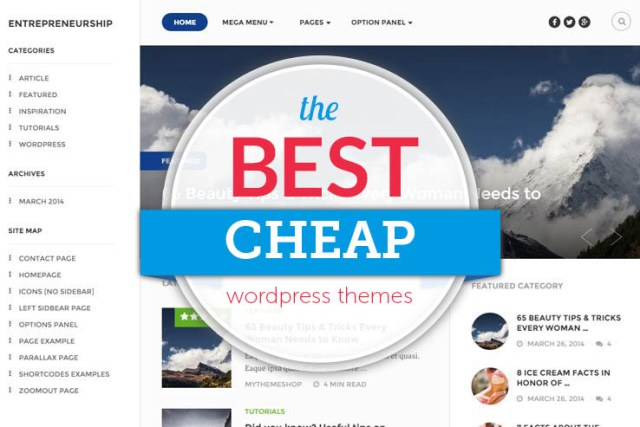Cheap WordPress Temas