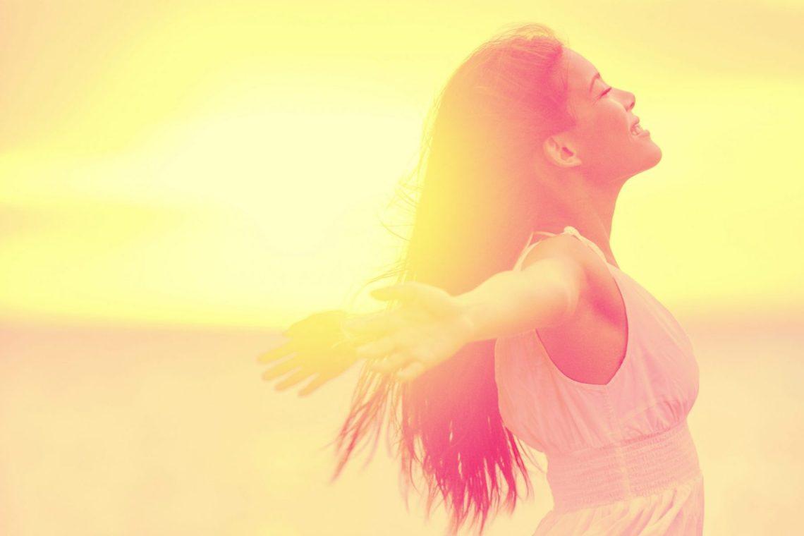 Happiness – Free happy woman enjoying sunset