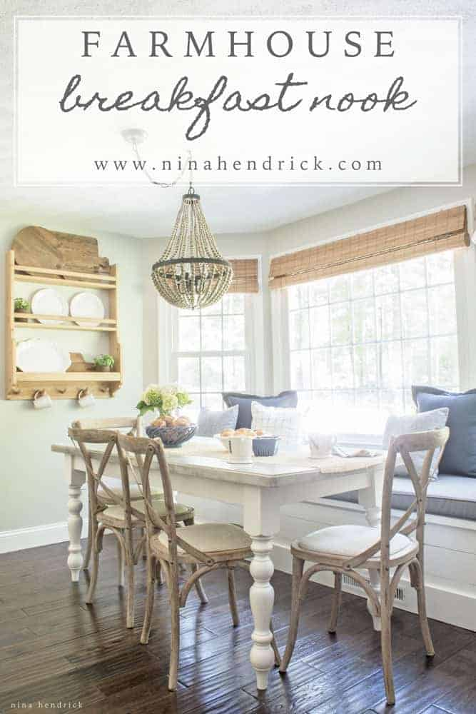 farmhouse dining room chairs howard elliott puff chair covers breakfast nook reveal | nina hendrick