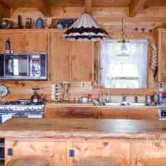 Cast Iron Kitchen Stove Barn Sinks For Rustic Lakeside Log Cabin Home Tour | Www.ninahendrick.com