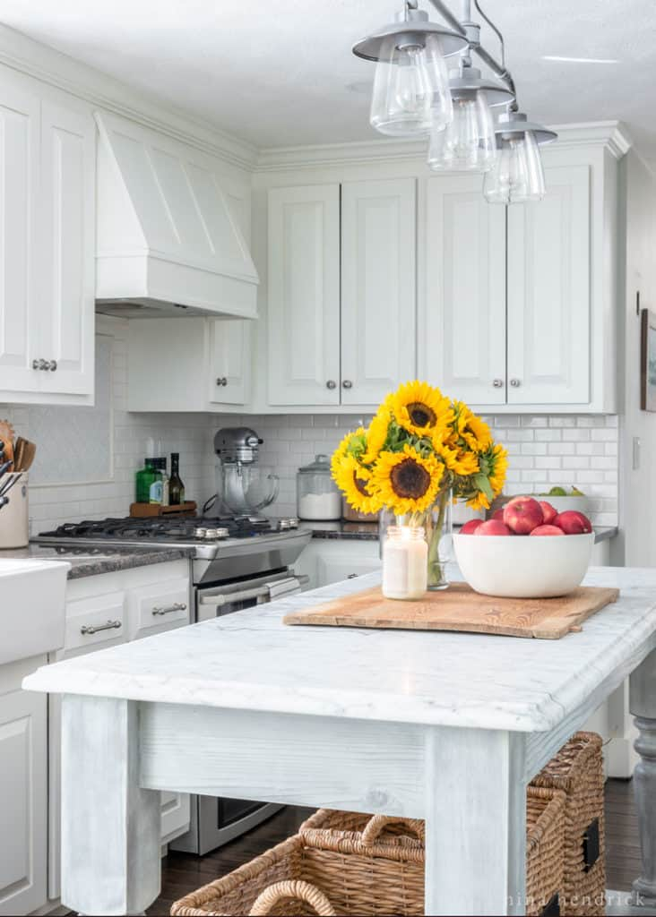 fall kitchen decor how to paint your cabinets simple early decorating ideas nina hendrick