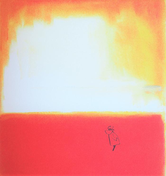 La levedad-Catherine Meurisse-atardecer duna