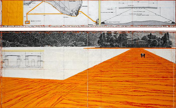 dibujo-Christo-floating piers