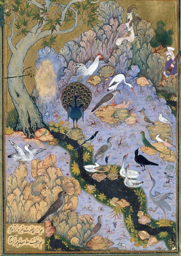 the concours of the birds-manuscript-met museum