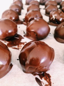Cookie dough-chocolade balletjes