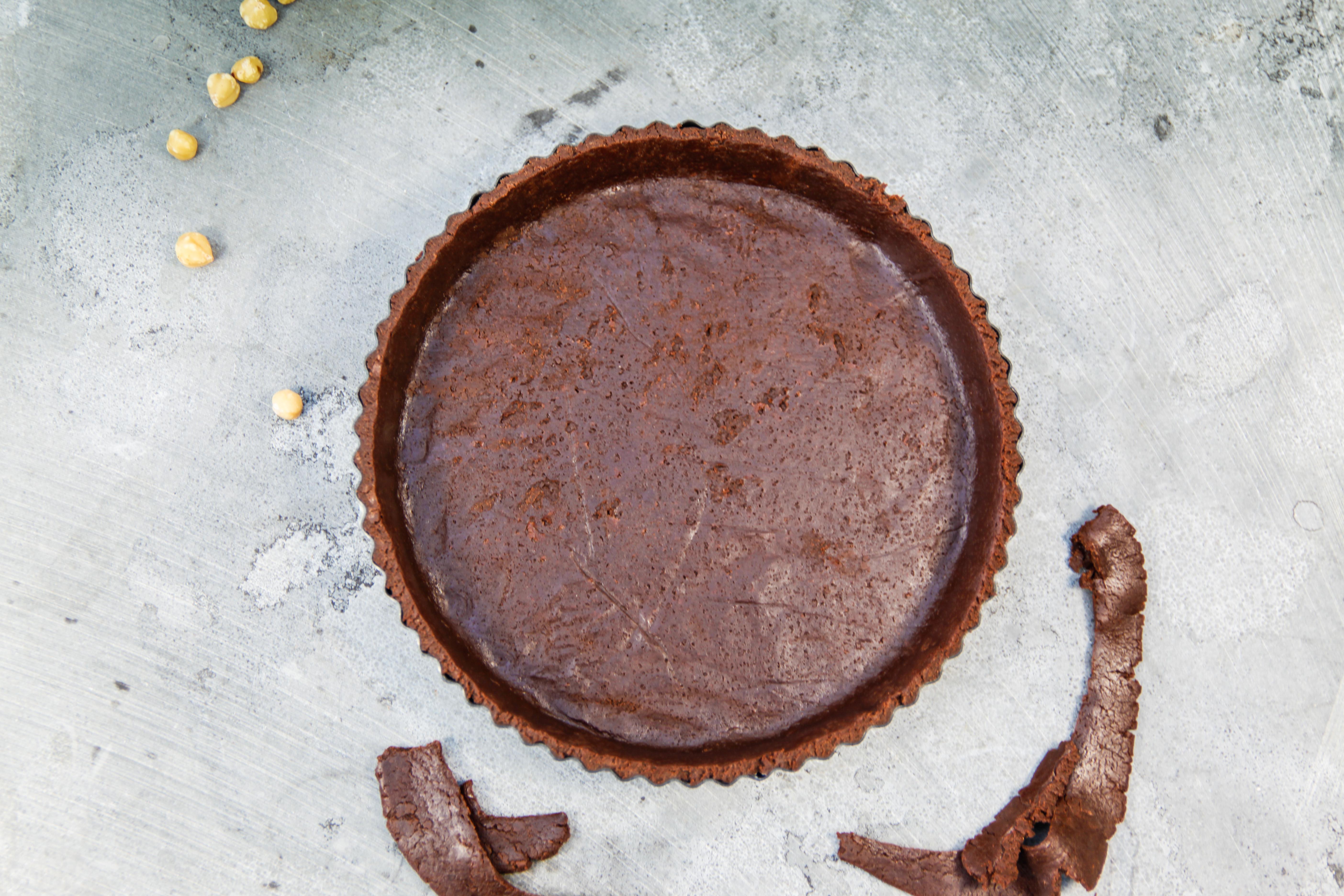 Chocoladebrownietaart met room