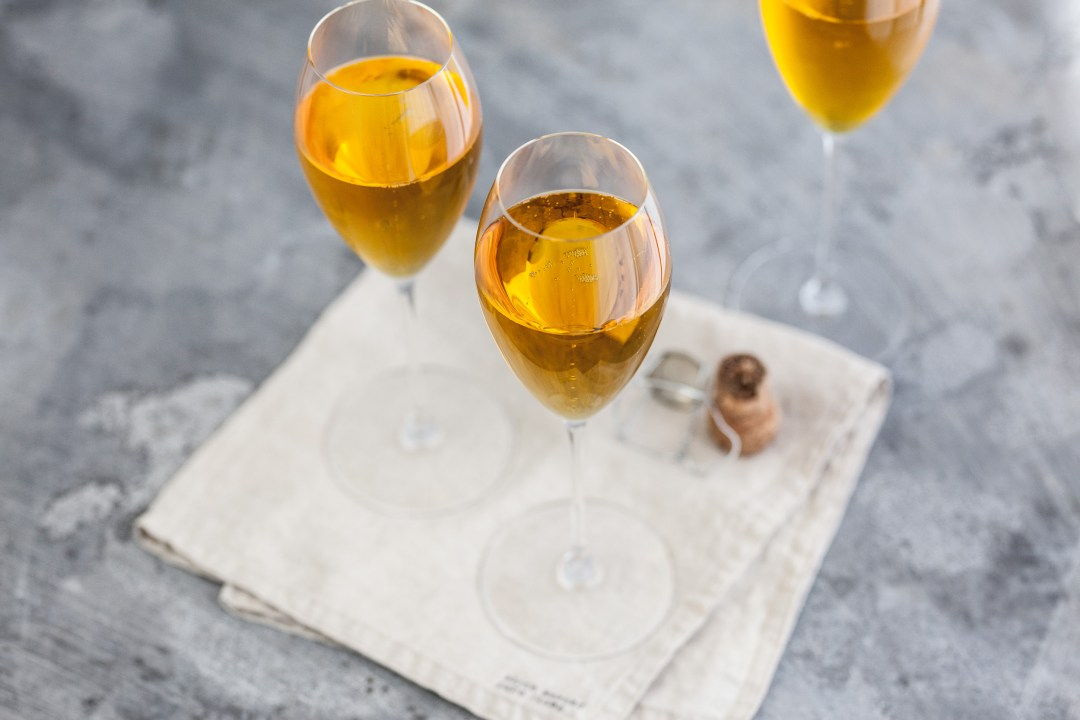 Crémant-cocktail met saffraan