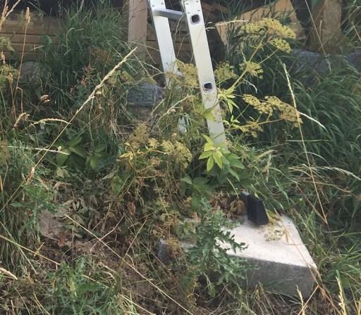 Nina Marquardsen Haveprojekt - trappe til skur