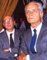 Antonio Giolitti con Giorgio Napolitano