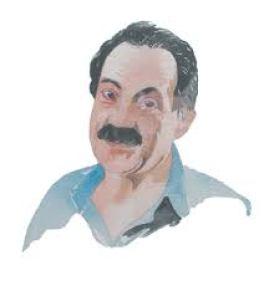 Un ritratto dello scrittore Sebastiano Vassalli