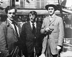 Picasso con Amedeo Modigliani e Salmon a Parigi nei primi anni del '900